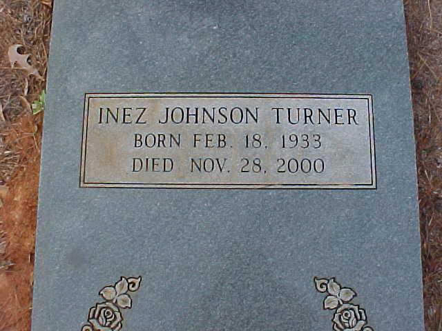 Inez <i>Johnson</i> Turner
