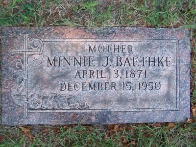Minnie J <i>Schaper</i> Baethke