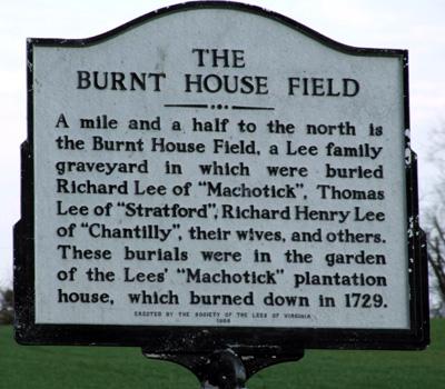 Burnt House Fields, Lee Family Estate