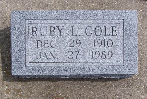 Ruby L. <i>Smith</i> Cole
