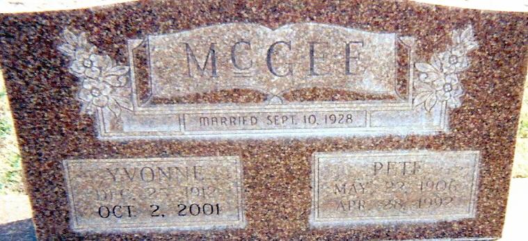 Elmer Pete McGee, Sr
