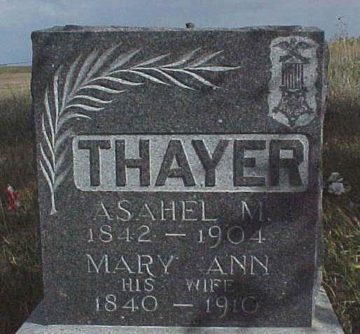 Pvt Asahel M. Tuck Thayer