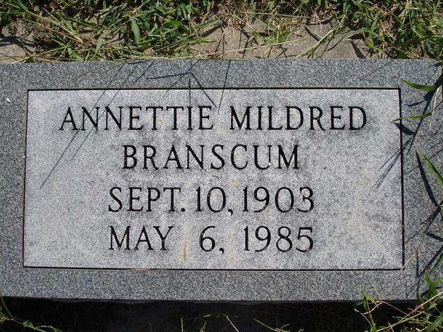 Annettie Mildred Branscum