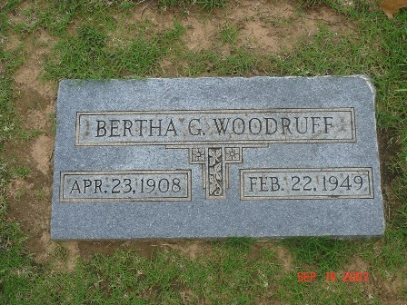 Bertha Gertrude <i>Morgan</i> Woodruff