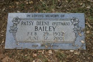 Patsy Deene <i>Pittman</i> Bailey