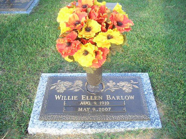 Willie Ellen <i>Brown</i> Barlow