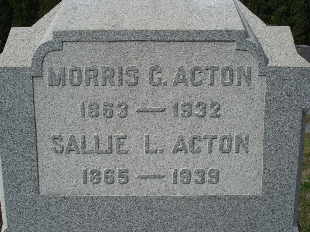 Sarah Sallie <i>Lindzey</i> Acton