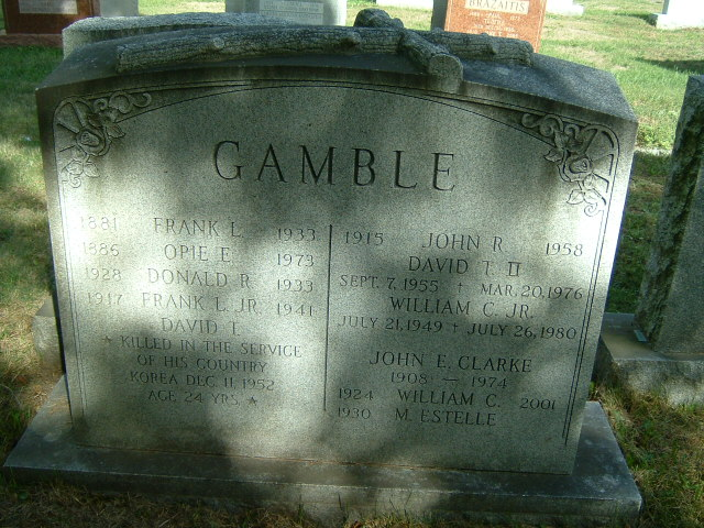 Frank Leslie Gamble, Jr