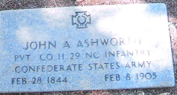 Pvt John A Ashworth