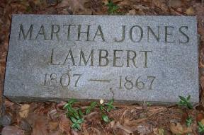 Martha <i>Jones</i> Lambert