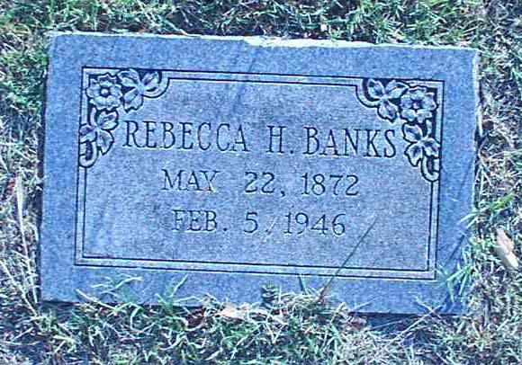Rebecca H <i>Mercer</i> Banks