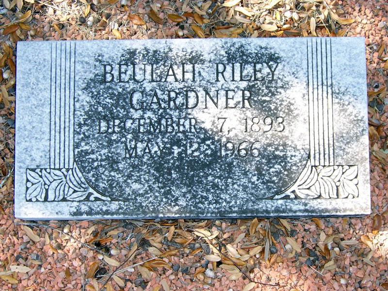 Beulah <i>Riley</i> Gardner