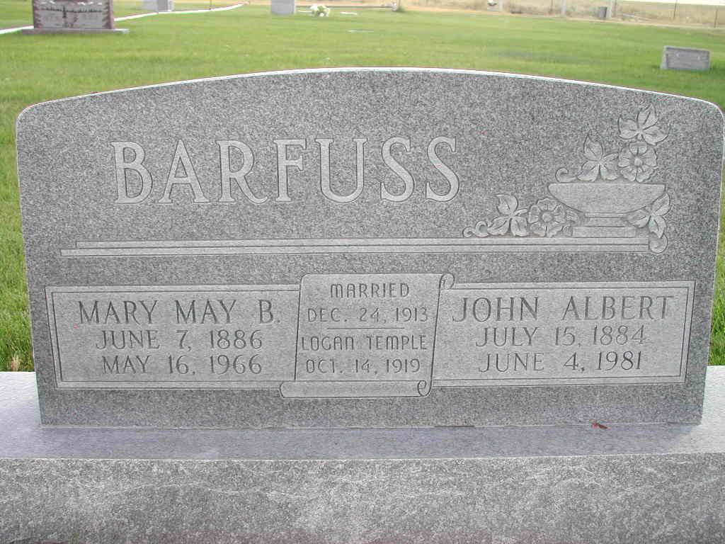 Mary May <i>Bowman</i> Barfuss