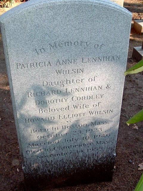 Patricia Anne <i>Lennihan</i> Wulsin