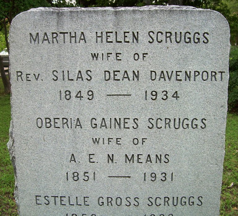 Martha Helen <i>Scruggs</i> Davenport