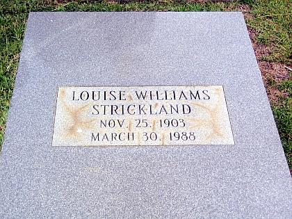 Louise <i>Williams</i> Strickland
