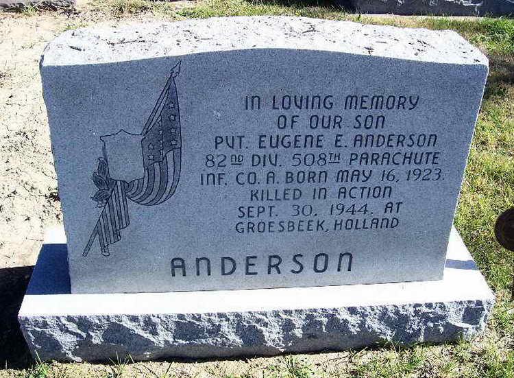 Pvt Eugene Ellsworth Anderson