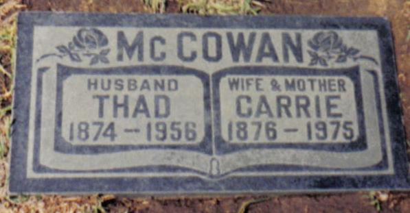 Thad H McCowan