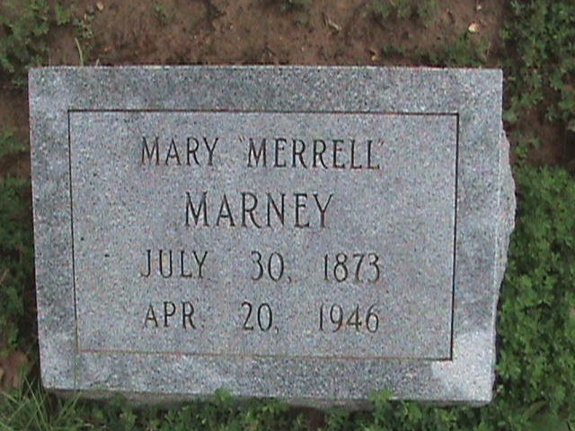 Mary Thursey <i>Cockrum</i> Marney