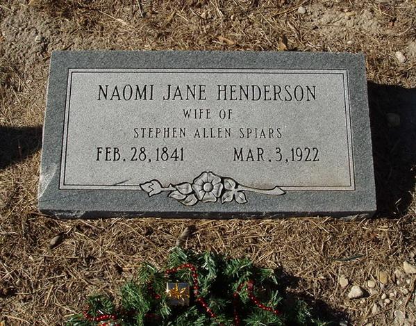 Naomi Jane <i>Henderson</i> Spiars