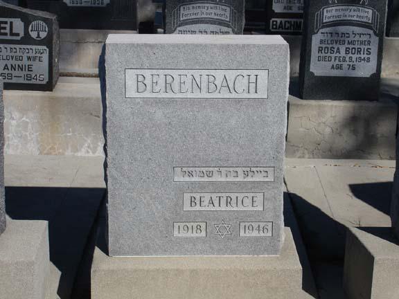 Beatrice <i>Frank</i> Berenbach