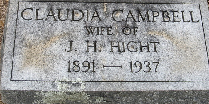 Claudia <i>Campbell</i> Hight