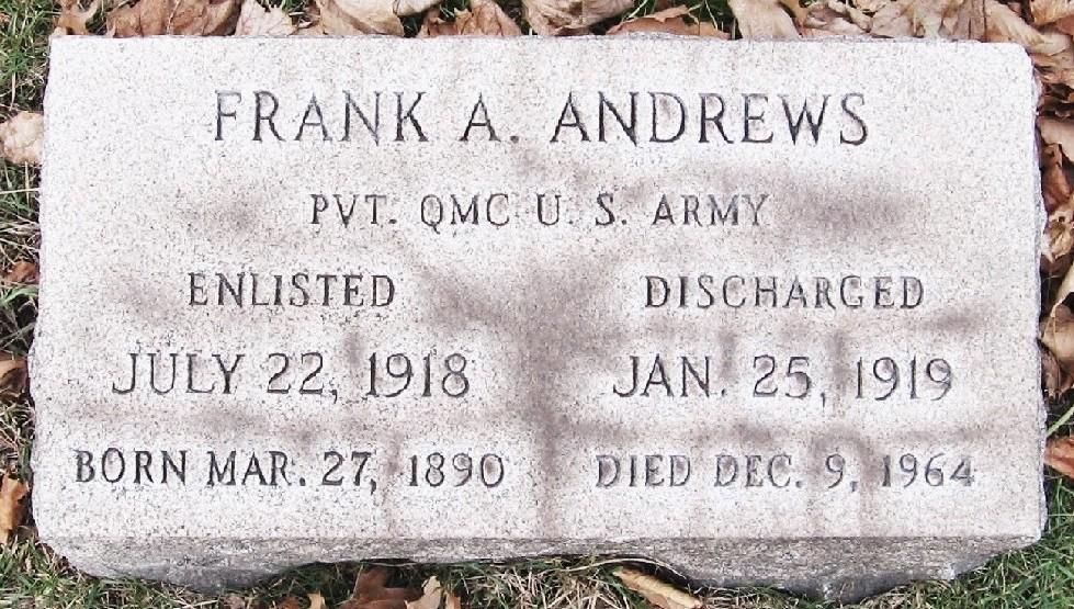 Pvt Frank A. Andrews
