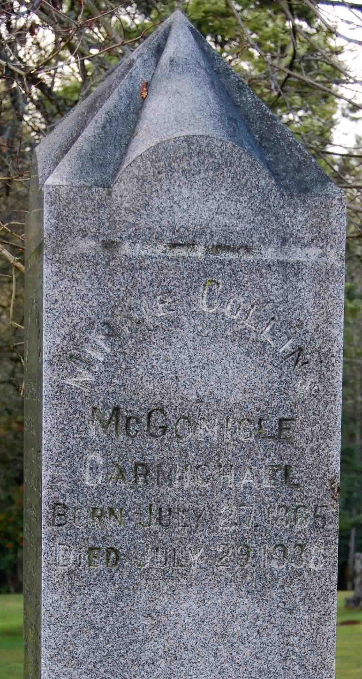 Minnie Collins <i>McGonigle</i> Carmichael