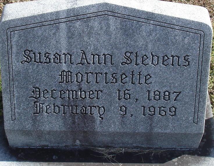 Susan Ann <i>Stevens</i> Morrisette