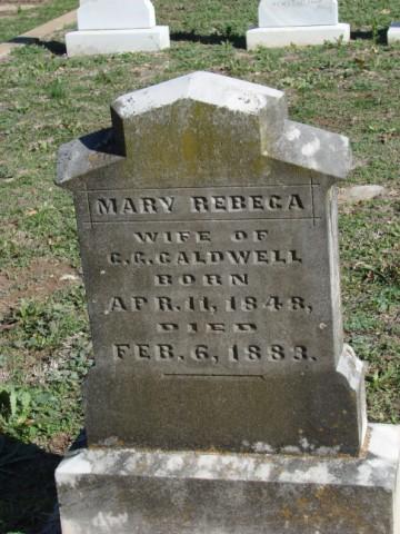 Mary Rebecca <i>Hill</i> Caldwell