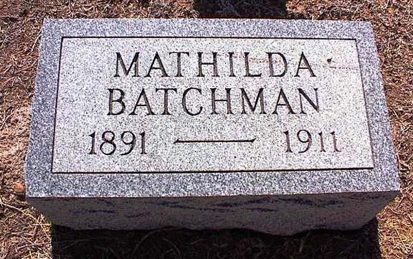Mathilda <i>Becker</i> Batchman