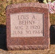 Lois A <i>Cole</i> Behny