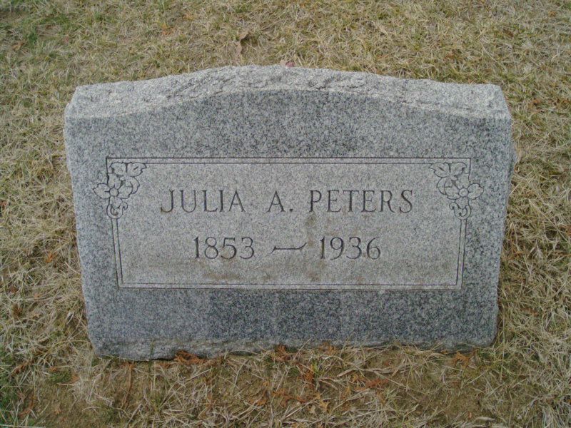 Julia Ann <i>Weatherwax</i> Peters