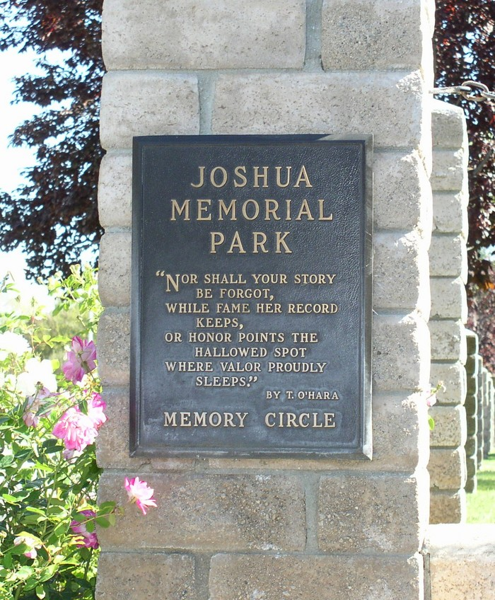Joshua Memorial Park