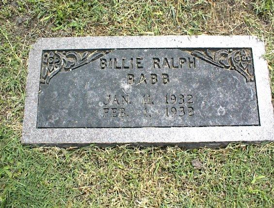 Billie Ralph Babb