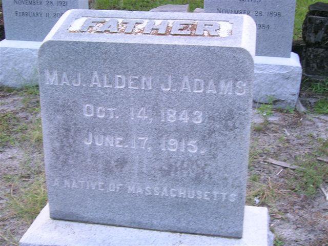 Maj Alden Joseph Adams