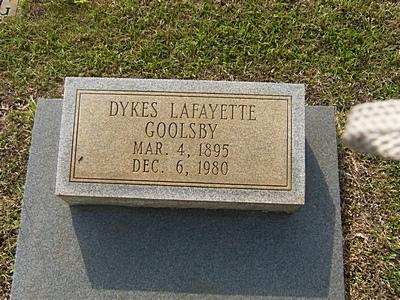 Dykes LaFayette Goolsby