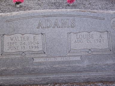 Walter E Adams