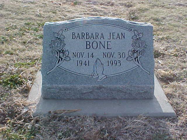 Barbara Jean <i>Ward</i> Bone