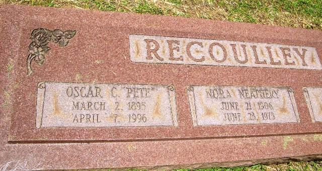Oscar C. Pete Recoulley