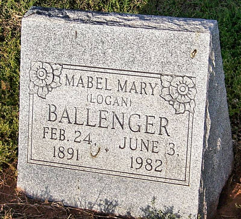 Mabel Mary <i>Logan</i> Ballenger