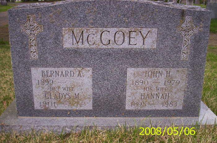 Bernard A McGoey
