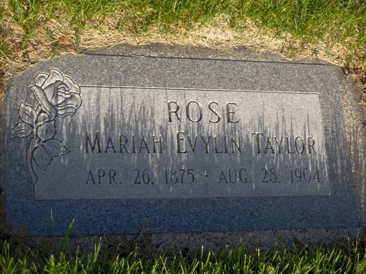 Mariah Evylin <i>Taylor</i> Rose