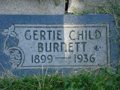 Gertrude <i>Child</i> Burnett