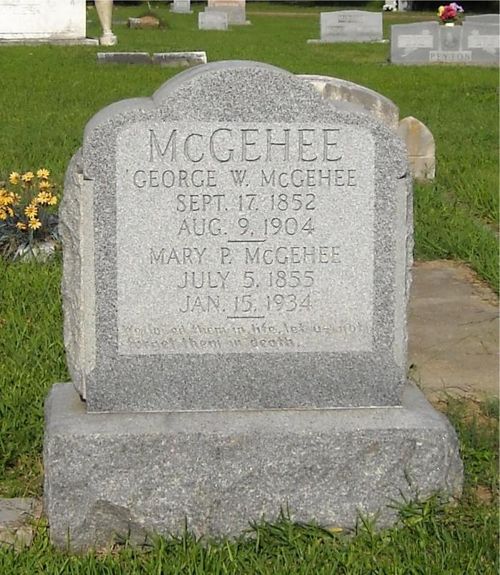Mary <i>Poindexter</i> McGehee