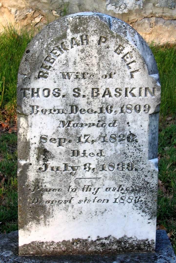 Rebekah P. <i>Bell</i> Baskin