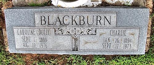 Caroline Dollie <i>Brown</i> Blackburn