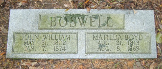 Matilda <i>Boyd</i> Boswell