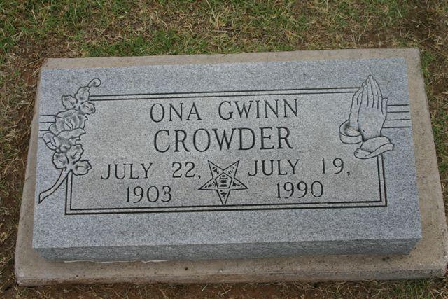 Ona Ruth <i>Gwinn</i> Crowder