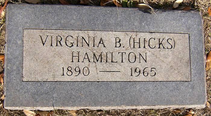 Virginia B <i>Hicks</i> Hamilton